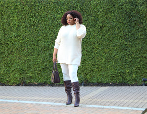 Winter White Sweater Set (Plus Size)