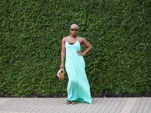 Beachside Resort Maxi Dress (Mint)