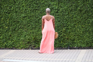 Beachside Resort Maxi Dress (Coral)