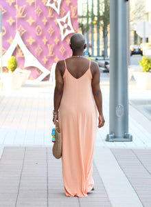 Beachside Resort Maxi Dress (Peach)