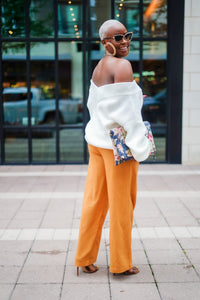 Cool Breeze Linen Drawstring Pants (Golden Sunset)
