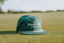 Load image into Gallery viewer, Greenish Script - Leather Strapback