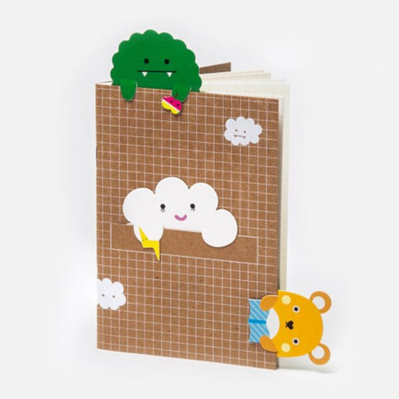 NOODOLL - CLOUD BOOKMARK NOTEBOOK