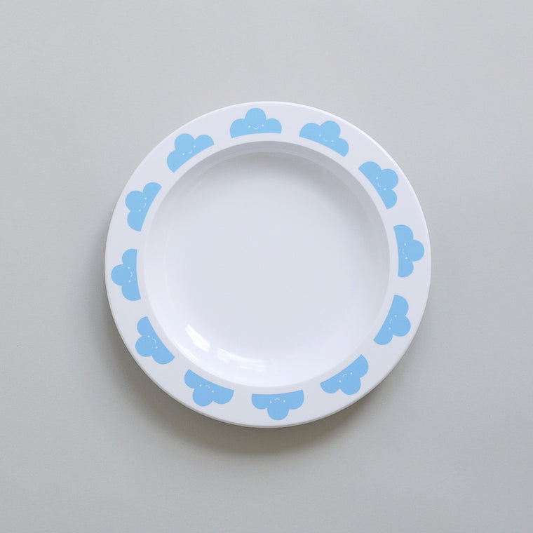 BUDDY AND BEAR - HAPPY CLOUDS MELAMINE PLATE - BLUE - Ivy Cabin