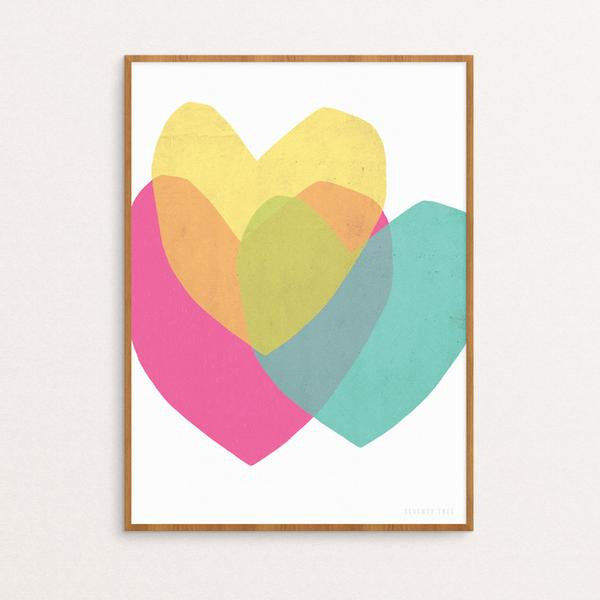 SEVENTY TREE - BRIGHT HEARTS PRINT