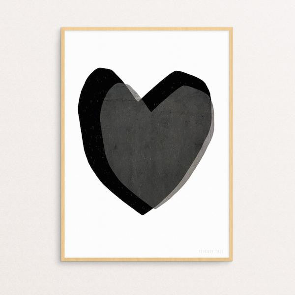 SEVENTY TREE - LAYERED HEARTS PRINT