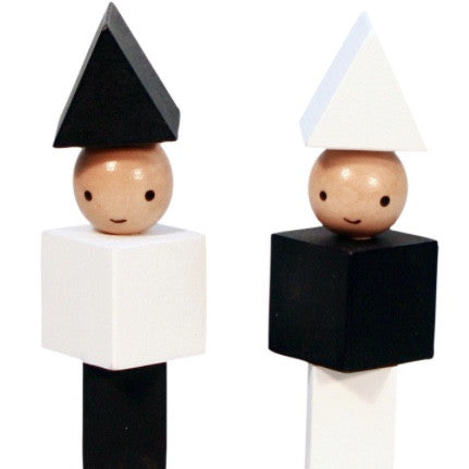 A LITTLE LOVELY COMPANY - LITTLE PEOPLE BLOCKS - MONOCHROME