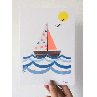 SCOUT EDITIONS - Sailboat PRINT A5