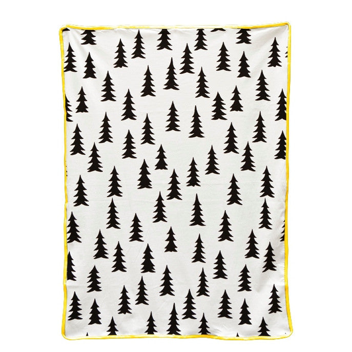 FINE LITTLE DAY GRAN FIR TREE BLANKET - YELLOW EDGE - Ivy Cabin