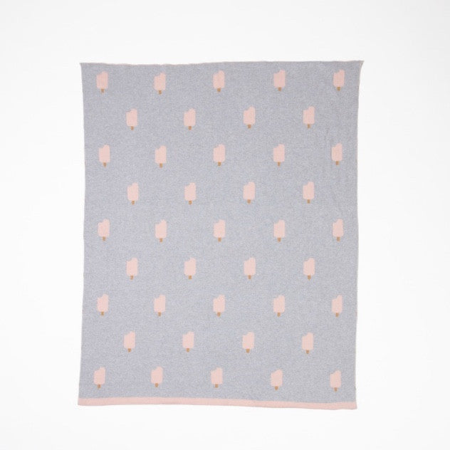 WOOUF GREY ICE CREAM BLANKET