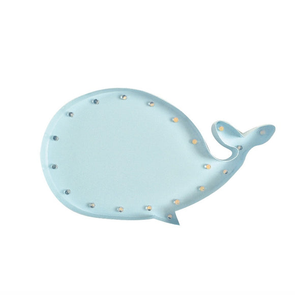 marquee bulb whale light