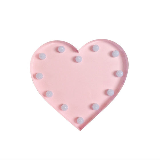 HEART BULB NIGHT LIGHT - PINK - Ivy Cabin