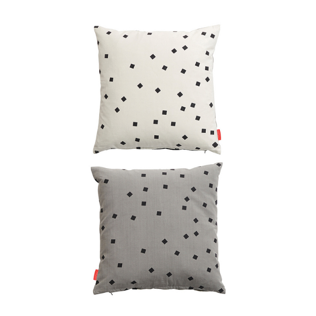 OYOY - CONFETTI CUSHION - GREY / WHITE / BLACK