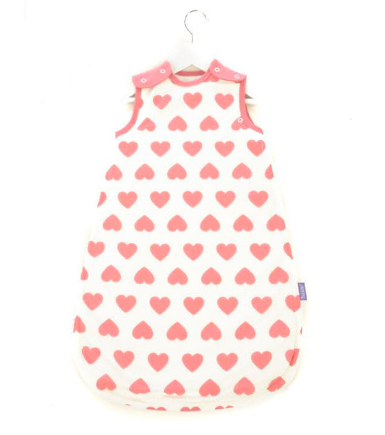 MAMA DESIGNS - BABASAC SLEEPING BAG - PINK HEARTS