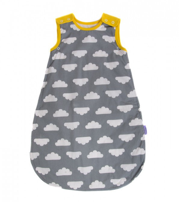 MAMA DESIGNS - BABASAC SLEEPING BAG - GREY CLOUD YELLOW TRIM
