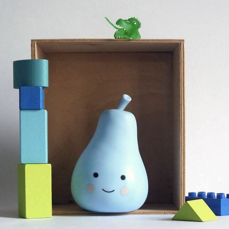 A LITTLE LOVELY COMPANY - MINI PEAR LIGHT - BLUE - Ivy Cabin