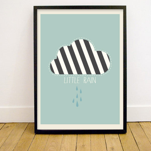 LITTLE MAN HAPPY - LITTLE RAIN PRINT 50 X 70 - Ivy Cabin
