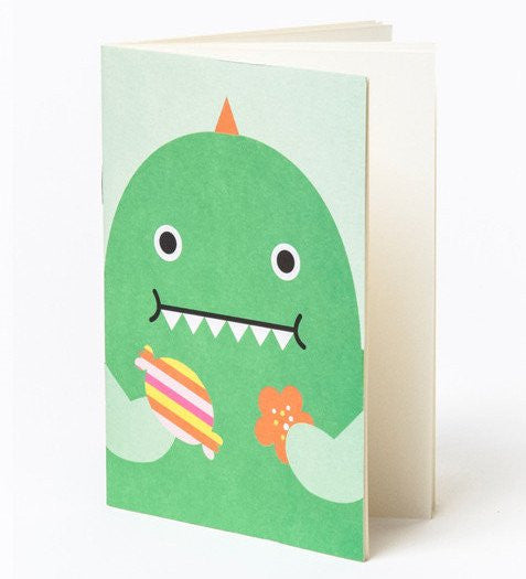 NOODOLL - POCKET NOTEBOOK GREEN DINO