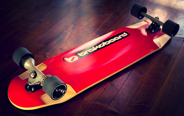 2016 Brakeboard red design deck longboard