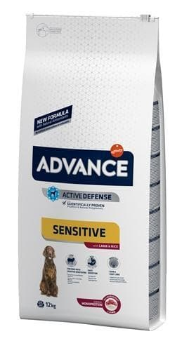 ADVANCE SENSITIVE LAMB / RICE 12 KG HOND ADVANCE