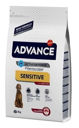 ADVANCE SENSITIVE LAMB / RICE 3 KG HOND ADVANCE
