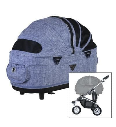 AIRBUGGY HONDENBUGGY DOME2 M GEMELEERD DENIM 67X33X51 CM / 96X53,5X99 CM HOND AIRBUGGY