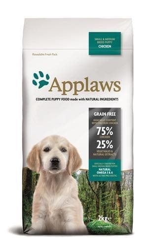 APPLAWS DOG PUPPY SMALL / MEDIUM CHICKEN 2 KG - Hondenhappiness