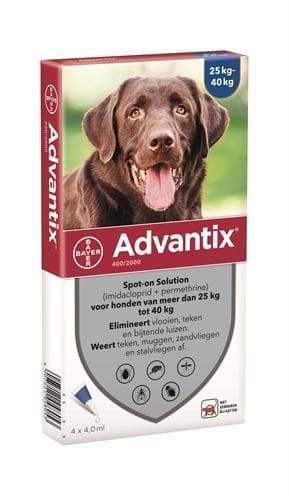 BAYER ADVANTIX SPOT ON 400/2000 25+ KG - 4 PIP HOND BAYER