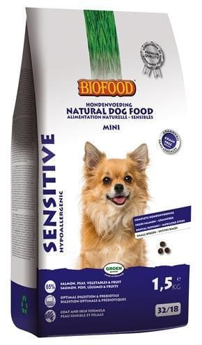 BIOFOOD SENSITIVE SMALL BREED 1,5 KG - Hondenhappiness
