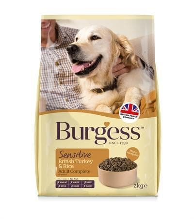 BURGESS DOG SENSITIVE KALKOEN / RIJST 2 KG - Hondenhappiness