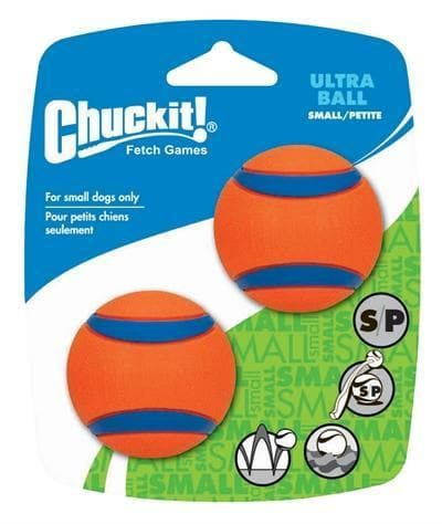 CHUCKIT ULTRA BAL SMALL 5 CM 2-PACK - Hondenhappiness
