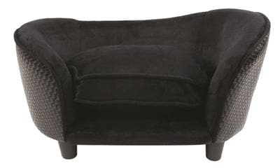 ENCHANTED HONDENMAND SOFA ULTRA PLUCHE SNUGGLE WICKER ZWART 68X41X38 CM - Hondenhappiness