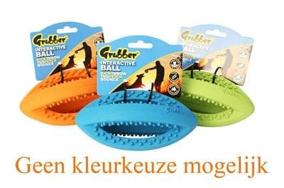 HAPPY PET GRUBBER INTERACTIEVE RUGBYBAL MINI ASSORTI 19X9X9 CM - Hondenhappiness