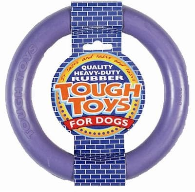 HAPPY PET TOUGH TOY RUBBER RING 15X15X2,5 CM - Hondenhappiness