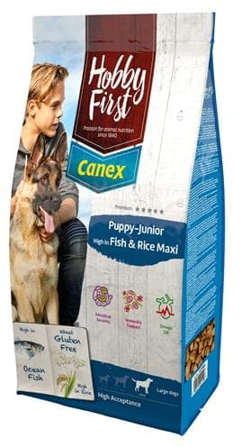 HOBBYFIRST CANEX PUPPY/JUNIOR BROCKS RICH IN FISH & RICE MAXI 12 KG - Hondenhappiness
