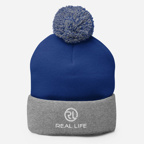 Real Life ( Pom-Pom Beanie ) - Dream Team Empire Clothing LLC