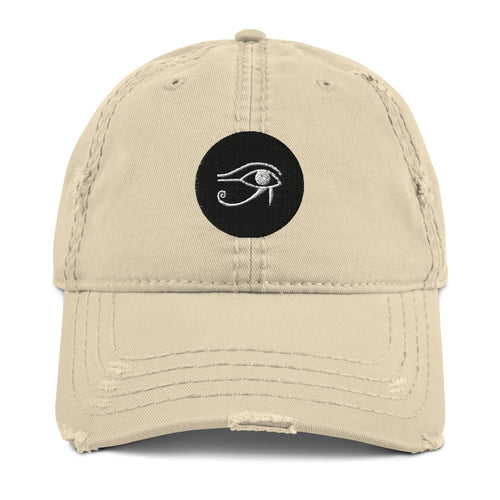 Real Life Eye of Horus ( Distressed Dad Hat ) - Dream Team Empire Clothing LLC