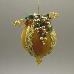 "Velvet Ball Christmas Ornament in 3 Colors - Handmade by Towers and Turrets - ""Fruit of the Vine"""