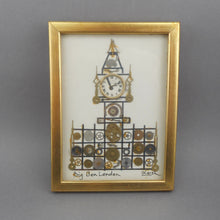 Load image into Gallery viewer, Vintage Watch and Clock Parts Framed Assemblage Art - Big Ben, London - Horological Collage by L. Kersh
