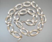 Load image into Gallery viewer, Vintage Napier Chain Necklace -  Circa 1980, Silver Tone Curb Links