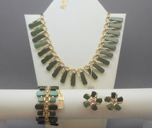 Load image into Gallery viewer, Vintage Mid Century Claudette Jewelry Set with Tags - Necklace, Bracelet, Earrings