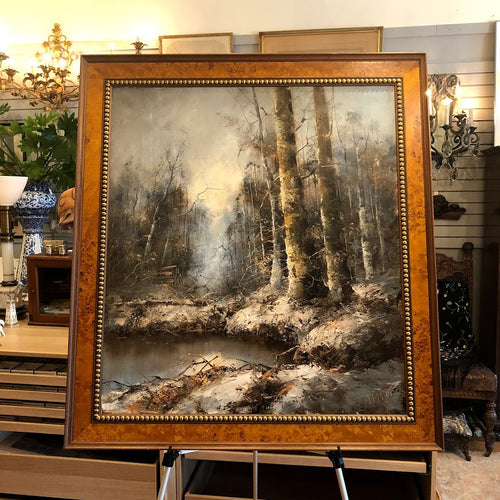 A. J. Horn Oil Painting - Winter Scene Landscape