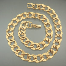 Load image into Gallery viewer, Vintage Napier Curb Link Chain Necklace - Textured Gold Tone - circa 1980