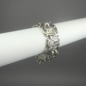 Vintage William Spratling Bracelet - 980 Sterling Silver, Signed with 1930s Mark - Taxco, Mexico - Vindobonensis Design
