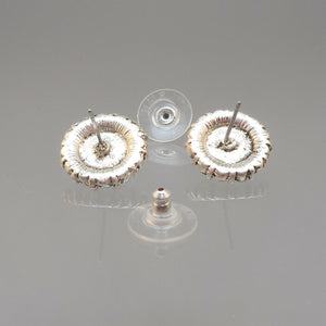 Vintage Roman Co. Rhinestone Post Earrings with Faux Pearls For Pierced Ears