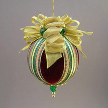 "Load image into Gallery viewer, Velvet Ball Christmas Ornament - Handmade by Towers and Turrets - ""Saint Patrick's Day"""