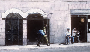 "1989 Catherine Jennings ""West Jerusalem Street"" Watercolor Painting"