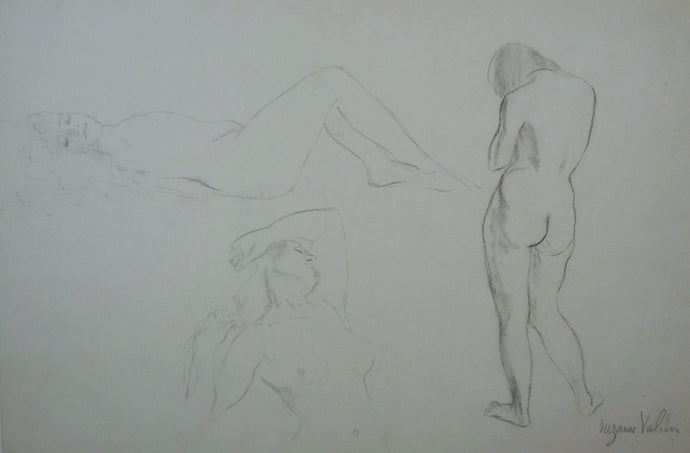 c 1920 Suzanne Valadon Pencil Drawings / Studies / Sketches of Nudes