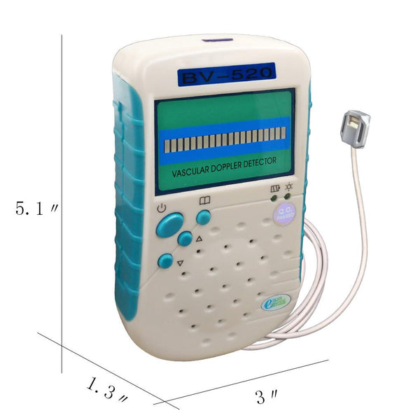 9Mhz Flat Probe Ultrasound Veterianry Vascular Doppler Detect Animals Blood Flow Speed Doppler Vascular Detector BV-520+