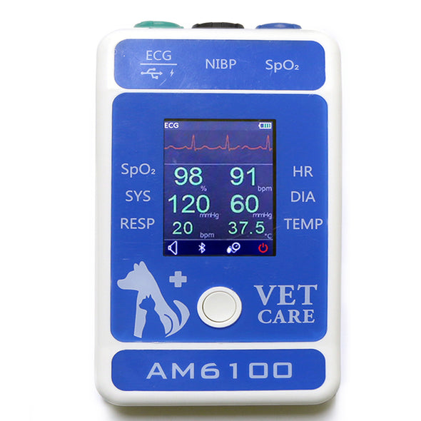 KM-31 Bluetooth App Ready Veterinary Multi-Parameter ECG Wave Monitor